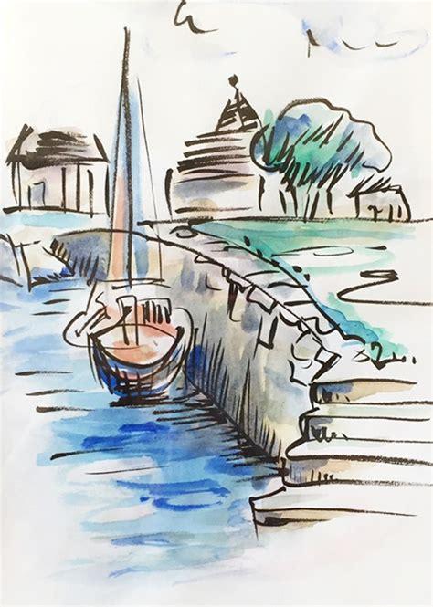 Dessin Bateau Au Port by Gt Gt Dessin Du Jour Dessiner Le Port