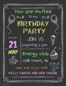 Customizable Design Templates for Birthday Party