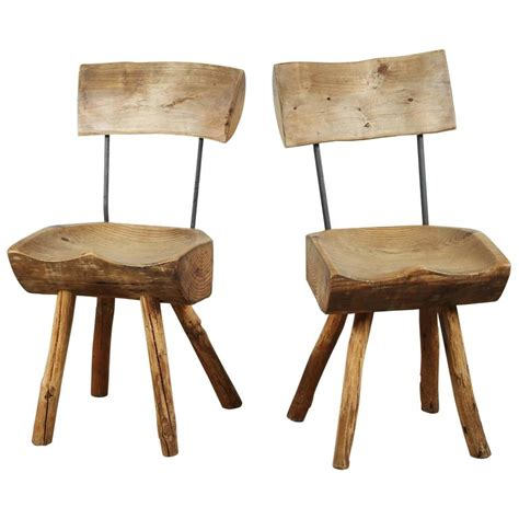rustic log chair for sale at 1stdibs