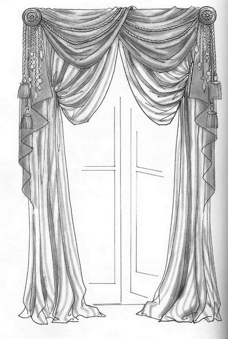 Hand Drawing - Curtains | * WINDOW TREATMENTS
