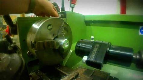 innensechskant herstellen auf der manuellen drehmaschine