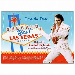 save the date elvis vegas wedding paperstyle With las vegas elvis wedding invitations
