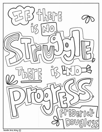 History Quotes Month Douglass Frederick Coloring Pages