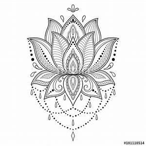 Henna Muster Schablone : henna tattoo flower template in indian style ethnic floral paisley lotus mehndi style ~ Frokenaadalensverden.com Haus und Dekorationen
