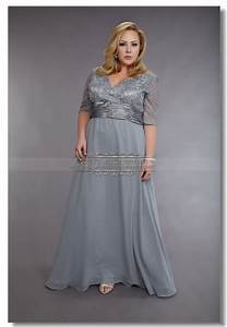 plus size silver gray chiffon mother of the bride dresses With plus size grey dresses for wedding