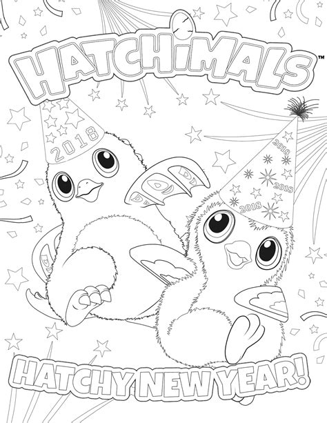 Hatchimals Coloring Pages - GetColoringPages.com