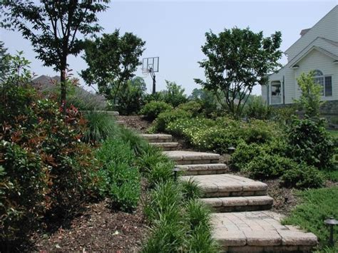 landscaping ideas steps on hill landscape idea steps up the hill landscaping backyard porches