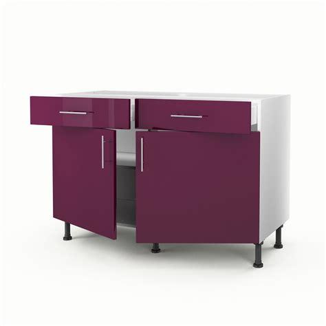 meuble bas cuisine castorama meuble de cuisine bas violet 2 portes 2 tiroirs h 70 x l 120 x p 56 cm leroy merlin