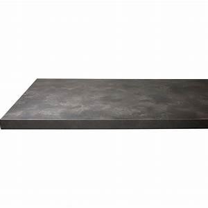 Plan Travail Pierre : plan de travail droit stratifi pierre lave 300 x 64 p 38 mm leroy merlin ~ Nature-et-papiers.com Idées de Décoration