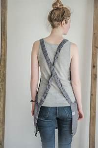 Not Perfect Linen : not perfect linen short square cross linen apron dark grey hafen ~ Buech-reservation.com Haus und Dekorationen