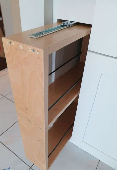 kitchen cabinet filler kitchen storage turn a filler panel into a pull 2502