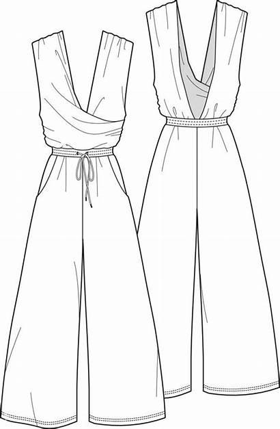 Jumpsuit Sketches Croqui Roupas Desenho Moda Roupa