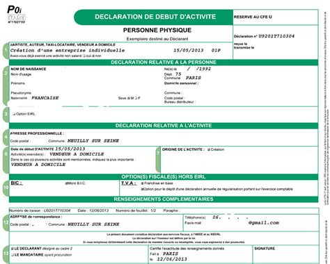 declaration auto entrepreneur chambre des metiers cuisine akeo vivre autrement registre des metiers 75