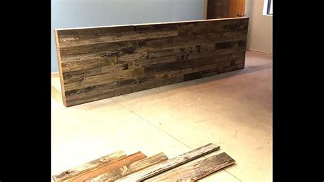 build  reclaimed wood wall reception deskarea