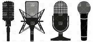 Icon set of microphones Vector Image #19576 – RFclipart