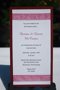 27 best images about anniversary invitations on pinterest With diy 50th wedding anniversary invitations