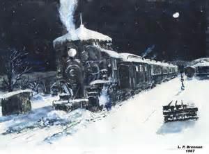 Snow Train at Night