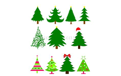 Download our exclusive cut files & use immediately Christmas Tree SVG DXF. Cutting files for Silhouette cameo ...