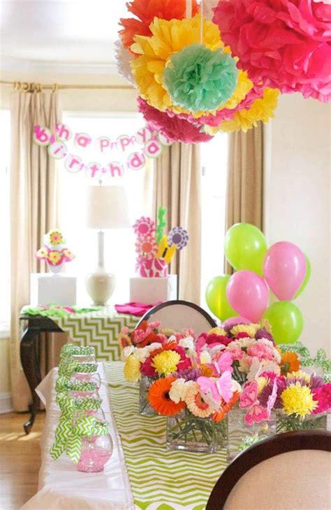 kara s ideas flower shop themed birthday via