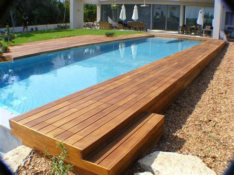 Swimming Pool, Rectangular Above Ground Infinity Pool With