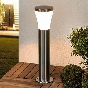 luminaire socle led sumea inox led lampe exterieur With carrelage adhesif salle de bain avec borne a led exterieur
