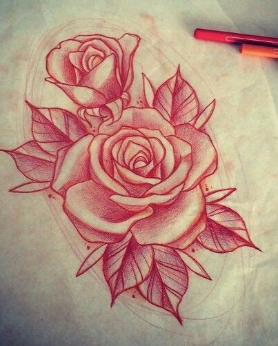 ideas  rose drawing tattoo  pinterest