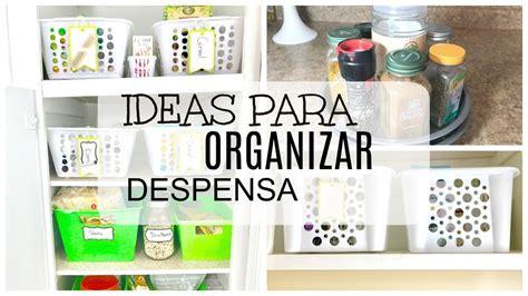 como organizar cocina pequena como organizar despensa