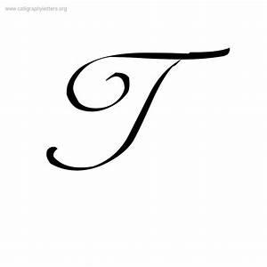 Printables Cursive Letter Capital T a cursive t scalien ...