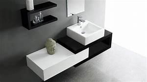 Salle De Bain Originale : meuble de salle de bain simple vasque bicolore carmen ~ Preciouscoupons.com Idées de Décoration