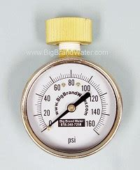 hose bib quick home water pressure test gauge   psi