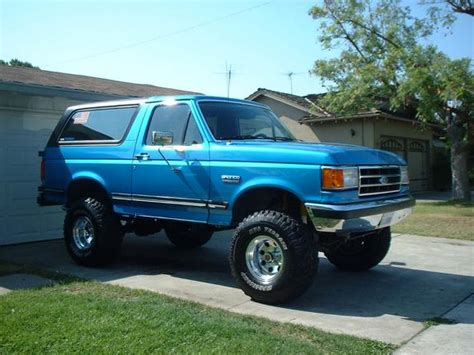 blue bronco car jimbovadney 1990 ford bronco specs photos modification