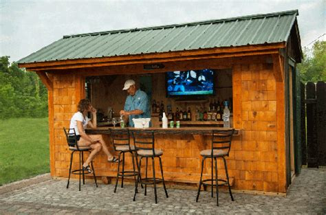 Backyard Saloon by Outdoor Tiki Bars Uniquegardensheds Roch