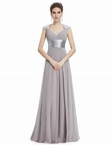 V neck sequins chiffon ruffles empire line evening for Wedding evening dresses