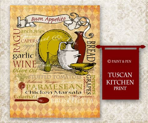 Tuscan Wall Decor For Kitchen by Tuscan Kitchen Decor Tuscan Wall Italian Kitchen Sign