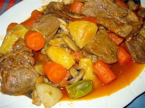 thym cuisine recette de langue de veau en sauce avec légumes