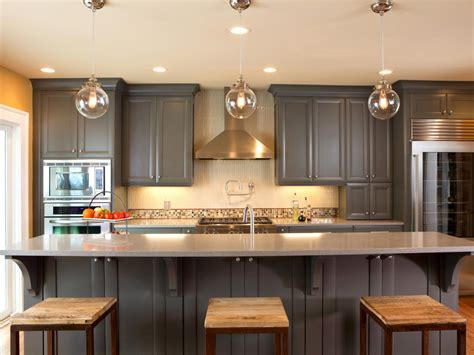 painted gray kitchen cabinets ideas for painting kitchen cabinets pictures from hgtv