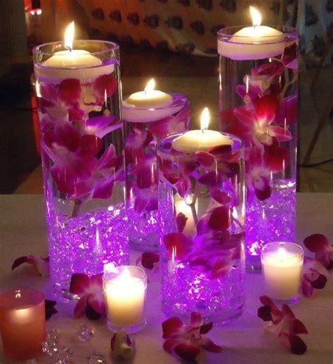 centerpiece  floating flowers  led light google