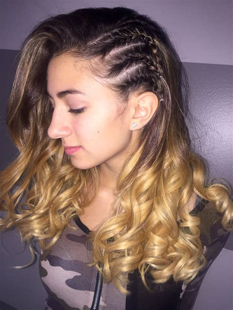 homecoming  prom hair  braids   side