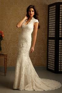applique draping cap sleeve charming beige lace wedding With beige lace wedding dress