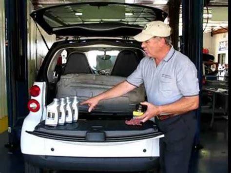smart car oil change  topside oil changer youtube