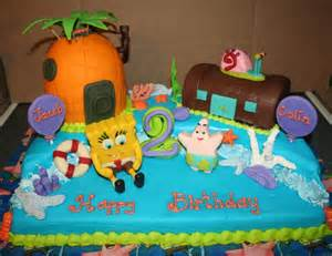 you have to see spongebob birthday cake for twin boys by