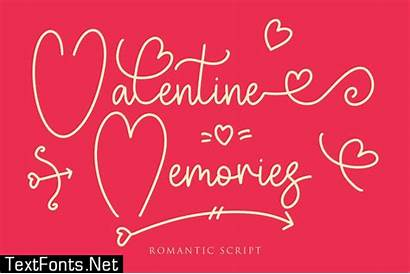 Memories Valentine Romantic Font Designs Projects Textfonts