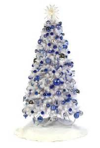 white christmas trees with blue lights pictures reference