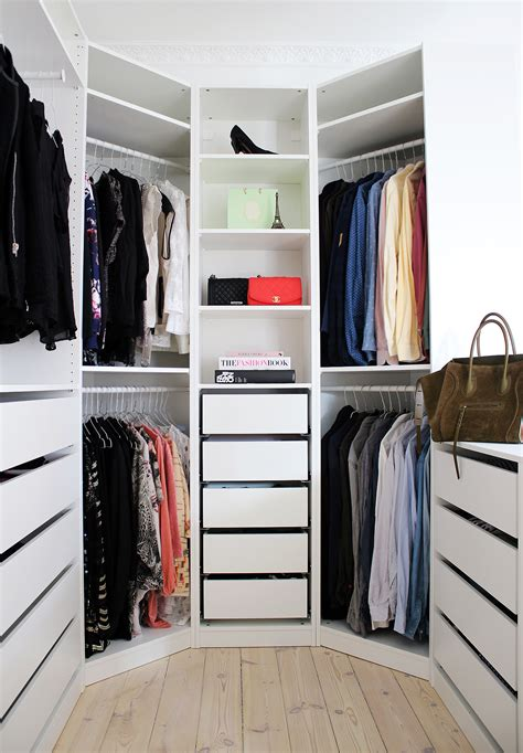 picture of ikea pax system used for a walk in closet