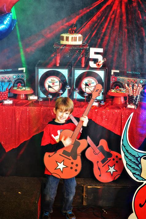 born  rock birthday party evite