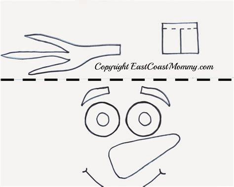 east coast mommy olaf hat  printable template