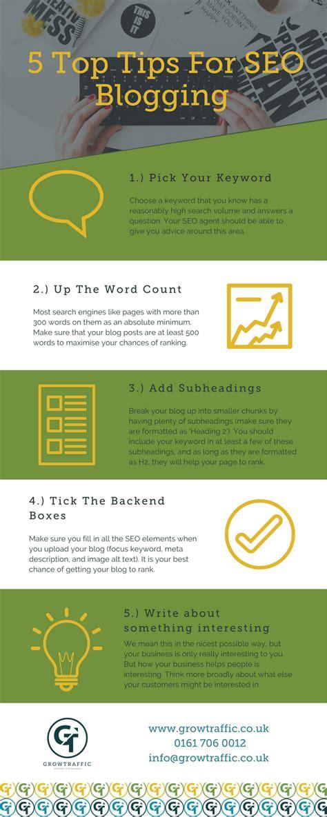 Seo Blogging Top Tips Growtraffic