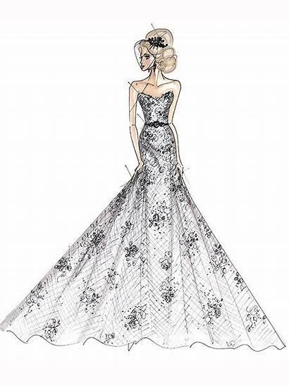 Sketch Celebrity Gown Brides Sketches Simpson Jessica