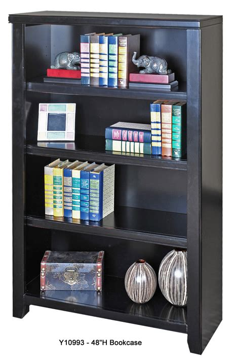 Black Wooden Bookcases by Black Wood Veneer Bookcases 48 Quot H Bookcase