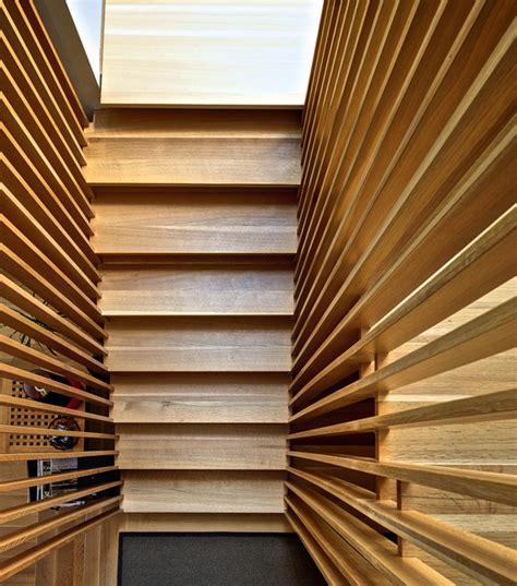 stair slats modern staircase toronto  andrew
